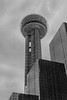 Reunion Tower - Dallas,, TX in 35mm black and white.
