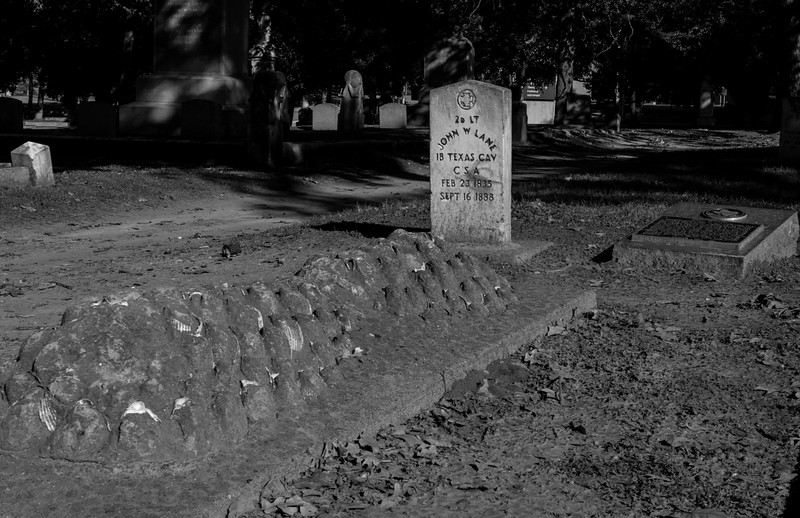 TX Cav Cemetery Dallas, TX - Pioneer Plaza - Downtown Dallas, TX  - 35mm black and white photo by Randy Stewart - www.NoPhotosAllowed.com