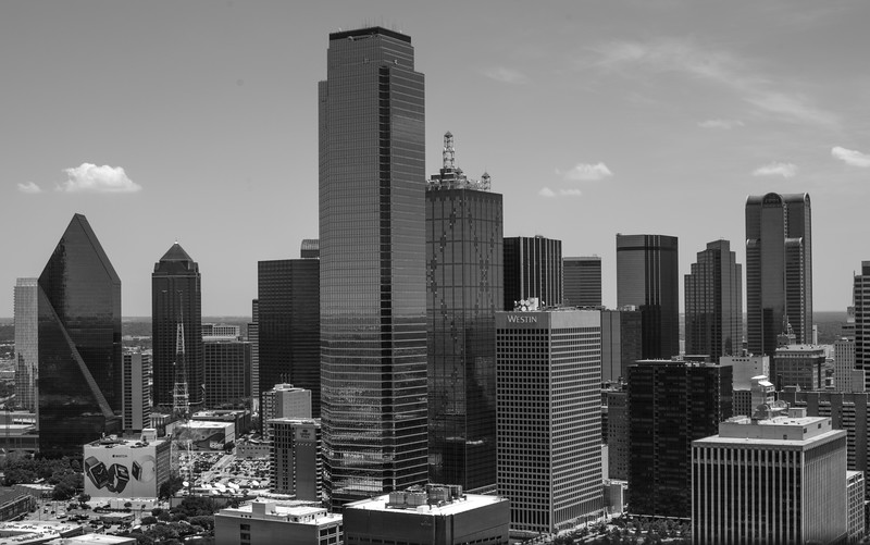 View of Downtown Dallas, TX from Reunion Tower