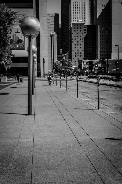 Downtown Dallas, TX in 35mm black and white - Photo by Randy Stewart - www.NoPhotosAllowed.com