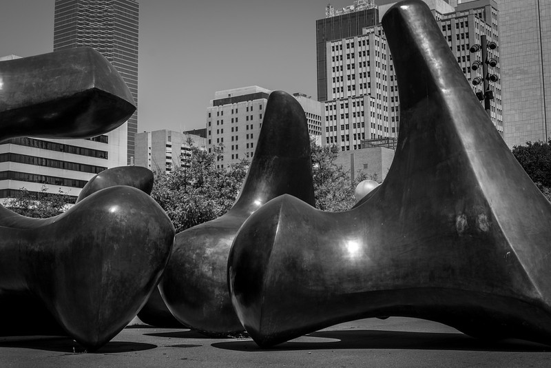 Dallas, TX City Hall sculptures - Downtown Dallas, TX - Photo by Randy Stewart - www.NoPhotosAllowed.com