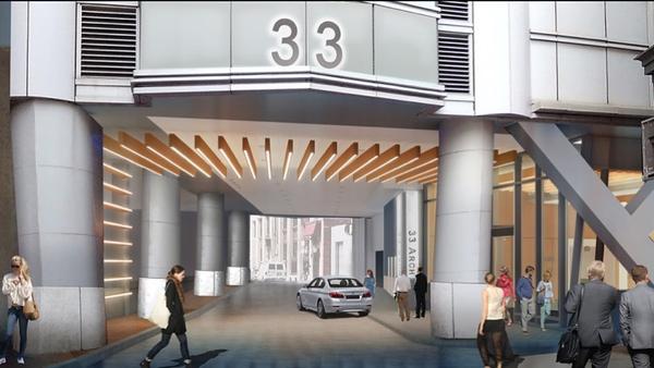 33 Arch Street lobby renovation