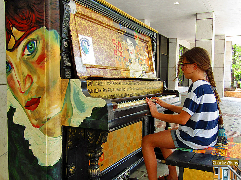 I walked by several painted pianos during the loft tour.