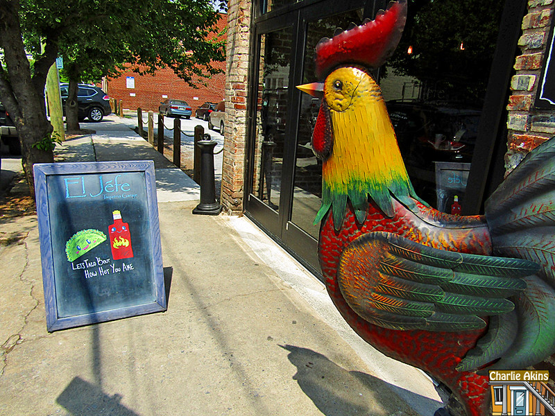 I like this rooster at El Jefe Taqueria Garaje.