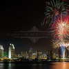 San Diego Skyline and Fireworks
