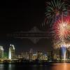 San Diego Skyline and Fireworks