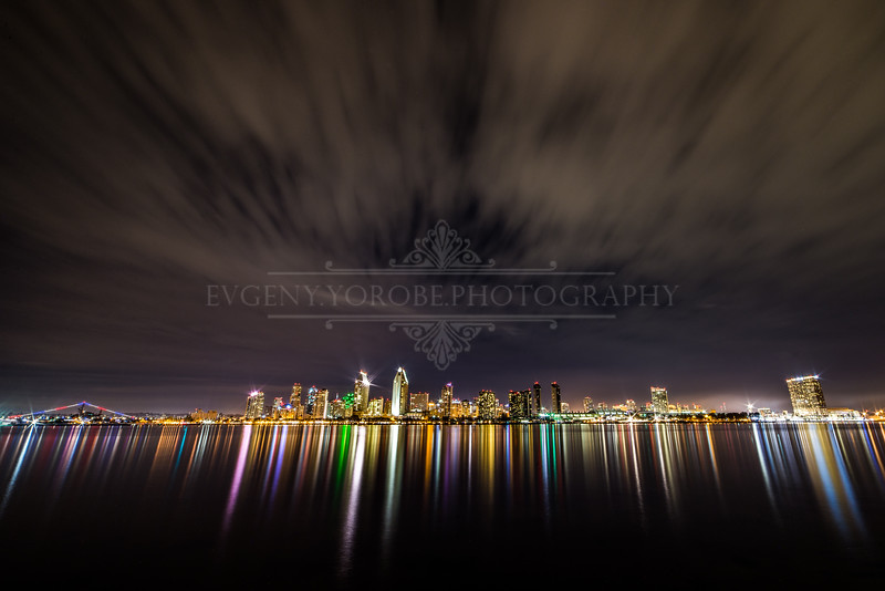 San Diego Skyline Long Exposure