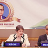 Helen Clark former 3 time Prime Minister of New Zealand and Administrator of UN Development program paying tribute  Dr. Ambedkar on the occation of 125th Birth  Anniversary at United Nations  in NY on 13th April 2016, Syed Akbaruddin Indian  Ambassador to UN can be seen....pic Mohammed Jaffer-SnapsIndia
