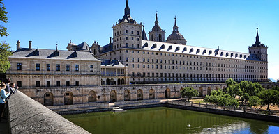 El Escorial, King Phllip II's imposing palace in the mountains north of Madrid