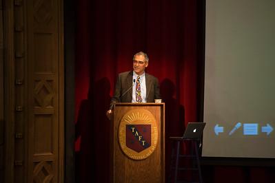 James Bauer speaks during  Morning Meeting