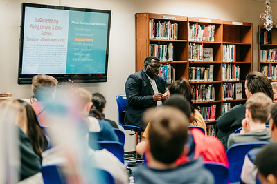 LaGarrett King, West Middle School, National African American Read-In