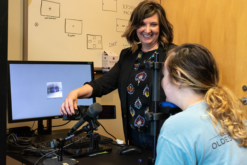 Dr. Kristin M. Pelczarski serves as a clinical supervisor and associate professor for graduate student clinicians working in the Kansas State Speech and Hearing Center. This is located at 139 Campus Creek Complex. (Brooke Barrett | Collegian Media Group)