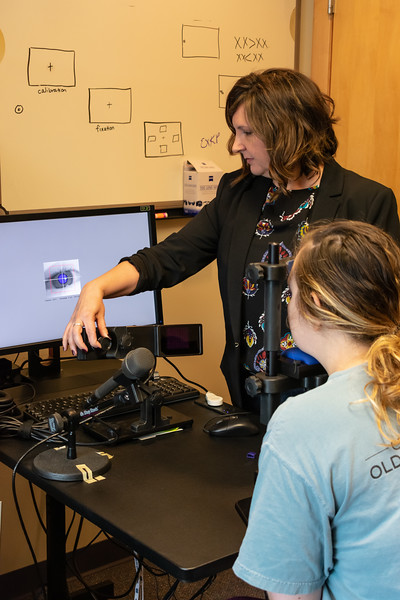 Dr. Kristin Pelczarski is an assistant professor who teaches graduate courses on stuttering and professional issues in speech pathology at Kansas State University. Her office is located at 234 Campus Creek Complex. (Brooke Barrett | Collegian Media Group)
