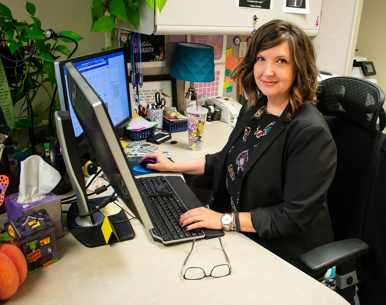 Dr. Kristin M. Pelczarski serves as a clinical supervisor and associate professor for graduate student clinicians working in the Kansas State Speech and Hearing Center. This is located at the Campus Creek Complex. (Brooke Barrett | Collegian Media Group)