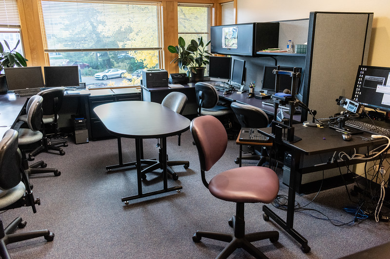 Dr. Kristin M. Pelczarski is an assistant professor in speech pathology at Kansas State University. Pictured above is her laboratory located on the second floor in the Campus Creek Complex. (Brooke Barrett | Collegian Media Group)