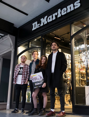Dr Martens Play different gig Chester store with Scarlet