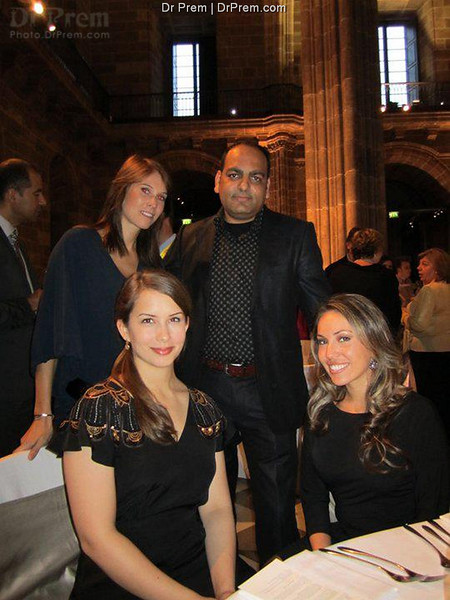 Dr Prem With Friends At Gala Dinner