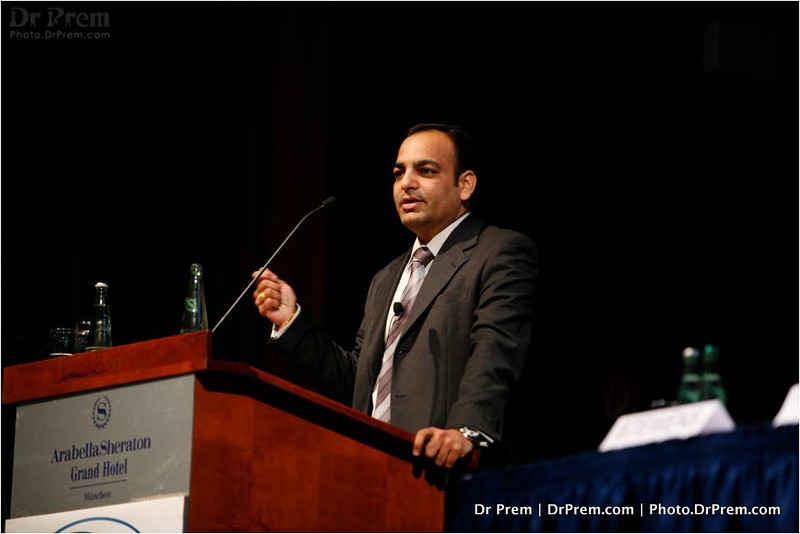Dr Prem Speaking in a conference at Munich - Germany