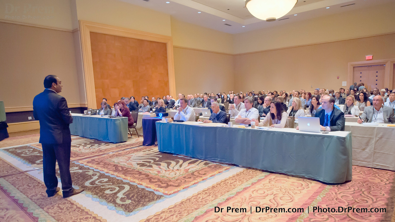 Seen here delivering a speech at a medical tourism conference, Dr Prem seems to always get the attention of the most tightly packed houses. Here's a toast to him!
