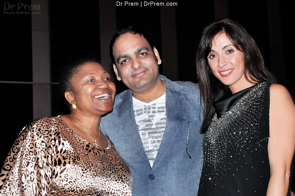 South Africa always brings great memories for Dr Prem Jagyasi. Seen here in a relaxed mood with Cawe Malhati and friend Renee. Dr  Prem is a global icon and has toured umpteen countries over the many years he is involved in medical tourism.