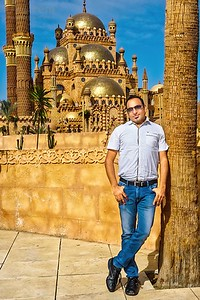 Dr Prem at Al Mustafa Mosque Sharm El Sheikh Egypt