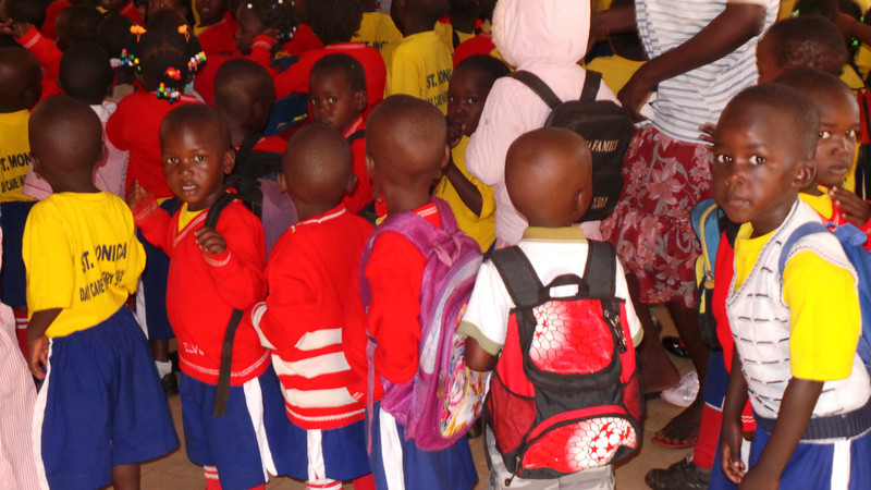 The cute lil ones from Sister Rosemary's Daycare school at St. Monica's..