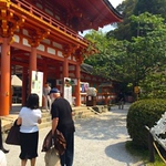 I visited the beautiful Kamigamojinja Shinto Shrine in Kyoto.