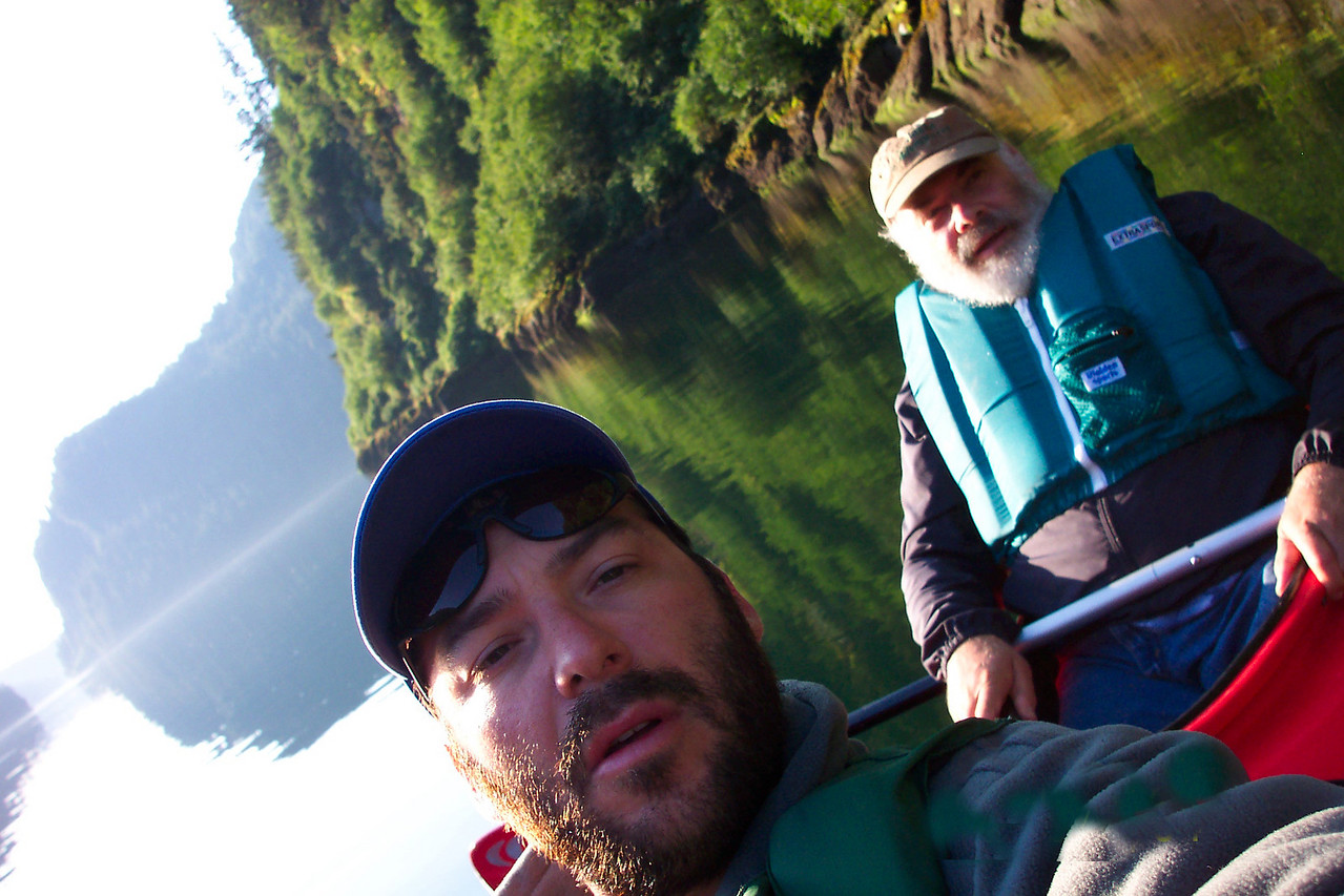Alaska is not for the faint of heart. We were in a cove off of Admiralty Island and the best way to view wildlife is via kayak. I teamed with my friend Andre Fasciola. This was a surprisingly intense cardio workout.