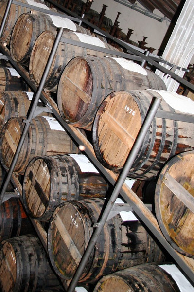 More aging balsamic. The casks are made of oak, juniper, cherry, mulberry and chestnut. The wood helps to impart subtle flavor.