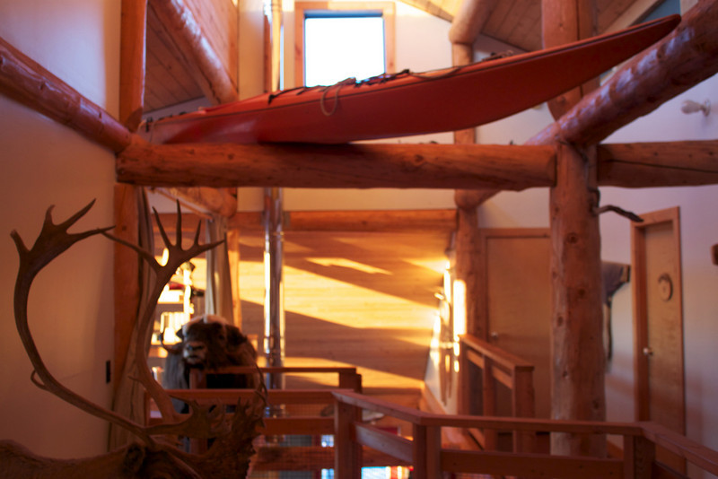 Here is the interior of the charming, rustic Blachford Lake Lodge where we spent our evenings in during the trip.