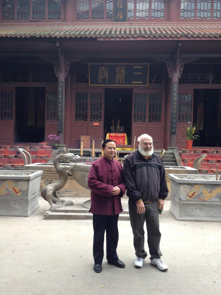 Here I am with the abbot of the Shaolong Taoist Temple in Beibei, outside of Chongqing in southwest China.
