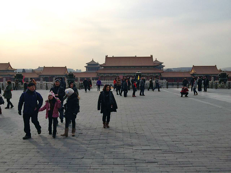 One of the many courtyards of the Forbidden City in the heart of Beijing.