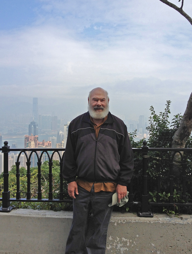 Here I am on a mountain overlooking Victoria Harbor in beautiful Hong Kong.