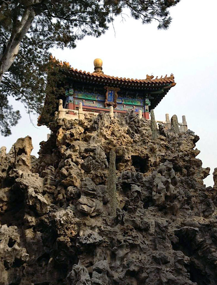 A beautiful temple near the Forbidden City in Beijing.