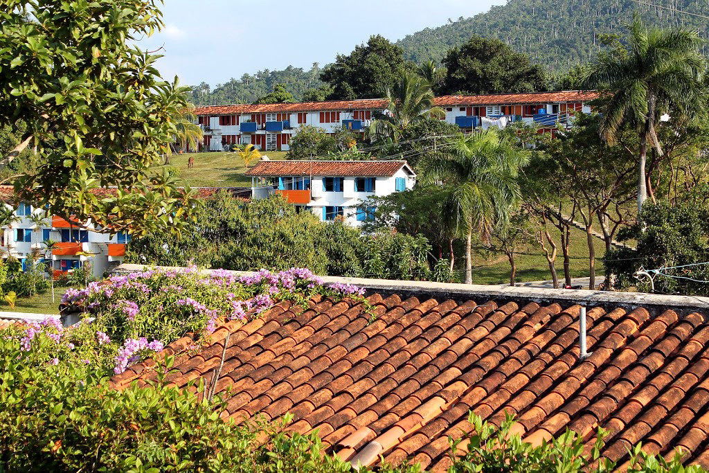 Homes and dorms at Las Terrazas Lago in Cuba