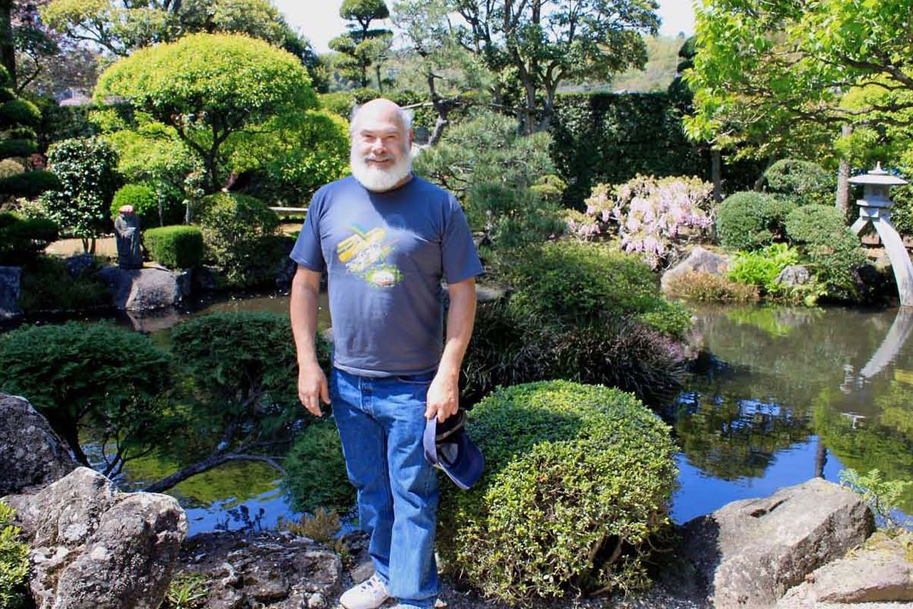 This tranquil, lovingly crafted pond and surrounding garden are next to a small Zen temple in Izu.