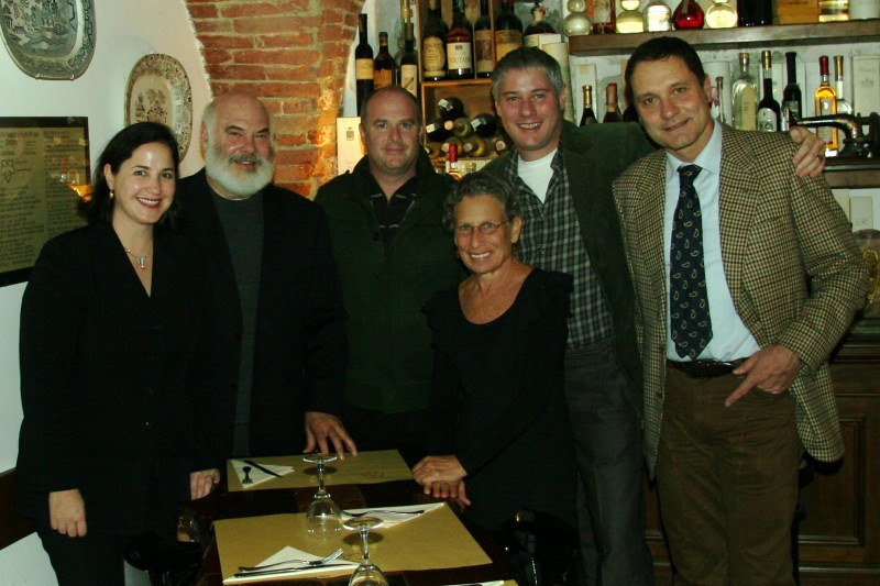 The Lucini team and me after enjoying a special evening on our gastronomic trip.  From left to right, Renée Frigo, (Founder/CEO of Lucini), myself, David Neuman (President of Lucini), Nori Fletcher, Daniel Graeff (Founder/Vice Chairman of Lucini); and Riccardo Scarpellini.