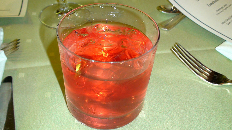 """This pomegranate """"mocktail"""" provided a suitably light, antioxidant-rich finale."""