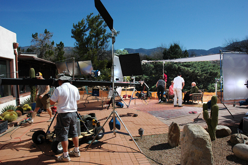 While dozens of video crews have come to Dr. Weil's ranch through the years, this was the most extensive production ever mounted on site. It used three high-definition cameras, including one mounted on a crane.