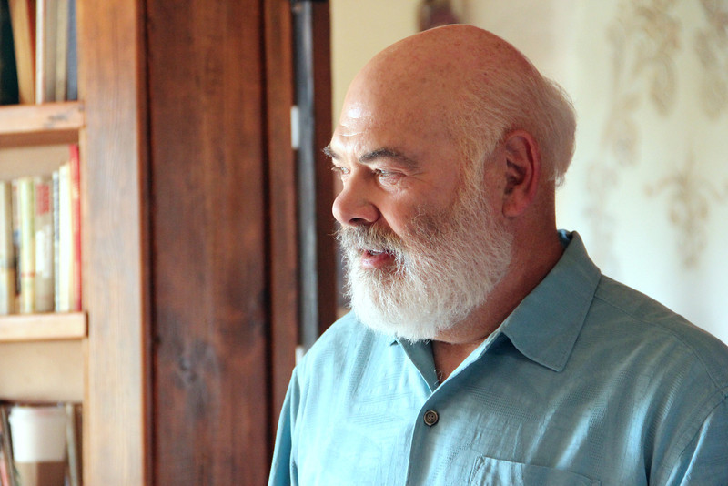 Dr. Weil preparing for the video shoot
