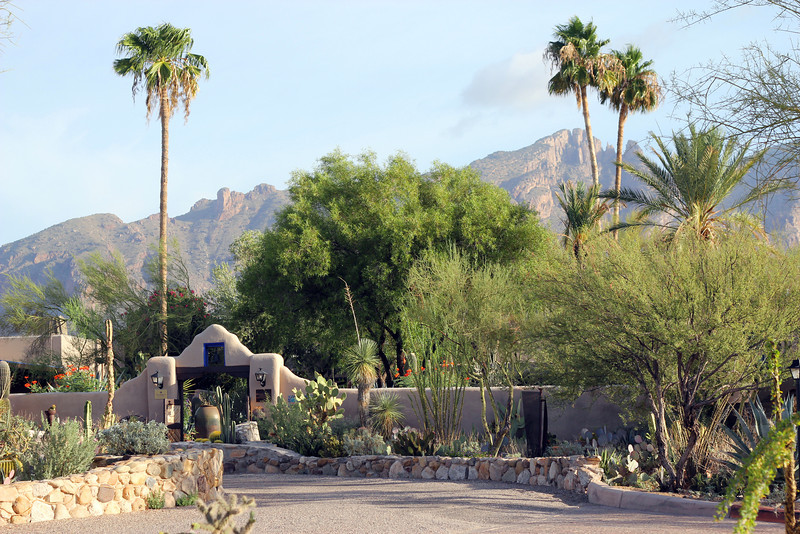 Entrance to the Hacienda del Sol in Tucson