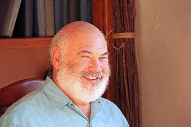 Dr. Weil poses for a photo during the video shoot