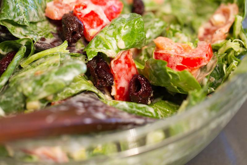 "<a href=""http://www.drweil.com/drw/u/RCP00199/Turkish-Spinach-Salad.html"">Turkish Spinach Salad</a> with dried black olives added to the original recipe."
