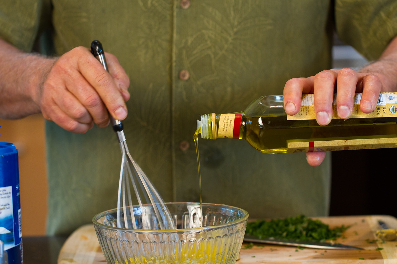 "Good-quality olive oil makes good-quality dressing. In other words, your dressing will only taste as fresh as your ingredients. Try to buy your olive oil and herbs from trusted organic brands when making <a href=""http://www.drweil.com/drw/u/RCP02198/Herb-Vinaigrette.html"">this dressing</a> or any other recipe."