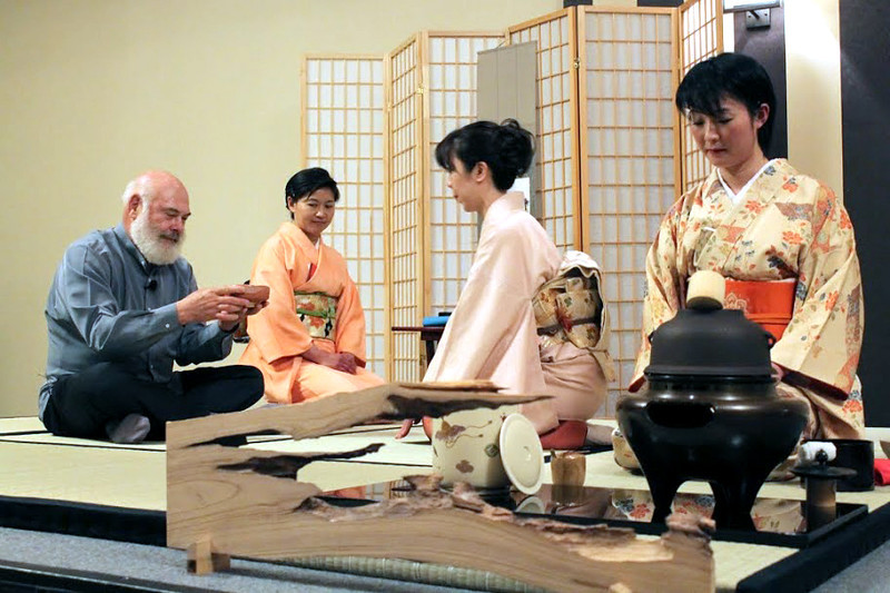 Traditional tea tasting ceremony
