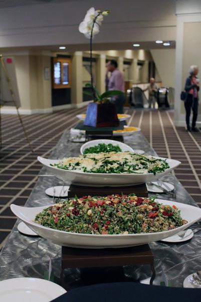 Quinoa tabbouleh and kale salad