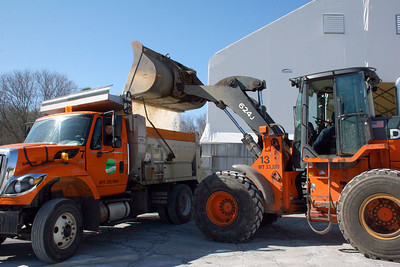 Dracut DPW workers getting ready for Nor'easter Stella