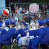 Dracut High School's Class of 2018 pass beach balls during graduation Friday. Lowell Sun/Chris Lisinski