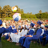 Members of Dracut High School's Class of 2018 pass beach balls during Friday evening's graduation. Lowell Sun/Chris Lisinski