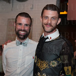 Brandon Lowe and Kentuckiana AIDS Alliance VP John Garner.